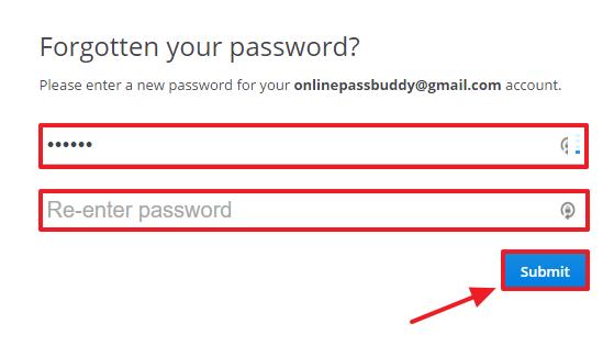 Dropbox password recovery step 4