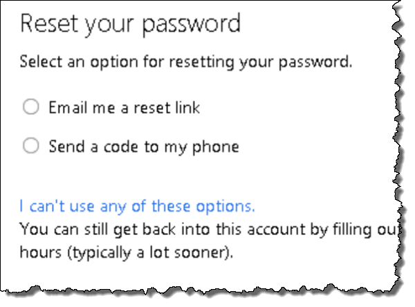 Hotmail password recovery step 3