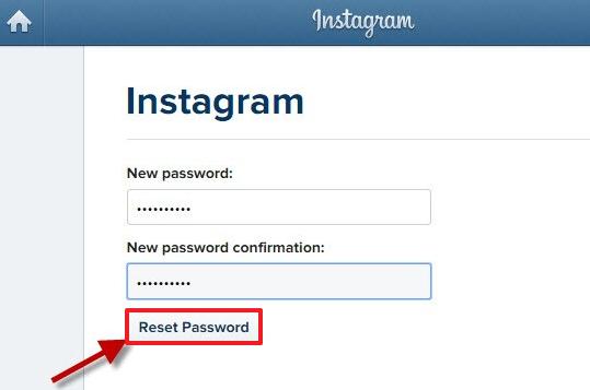Instagram password recovery step 5