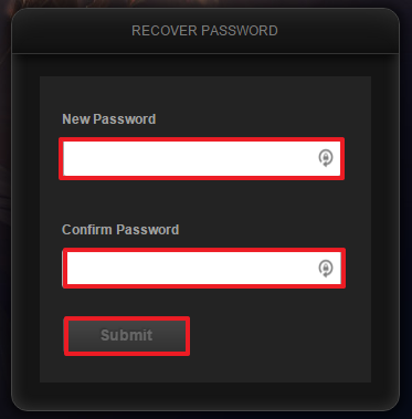 League of Legends password recovery step 6