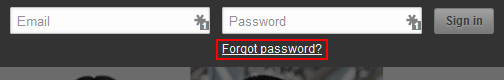 LinkedIn password recovery step 1