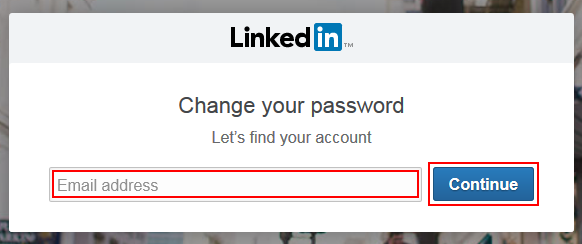 LinkedIn password recovery step 2