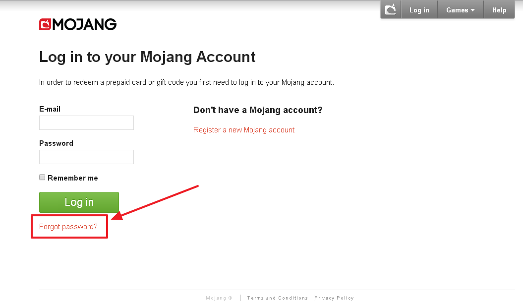 How To Reset (Mojang) Minecraft Password - Password Buddy