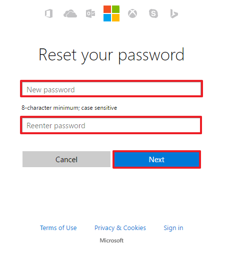 Outlook password recovery step 6