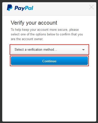 Paypal password recovery step 3