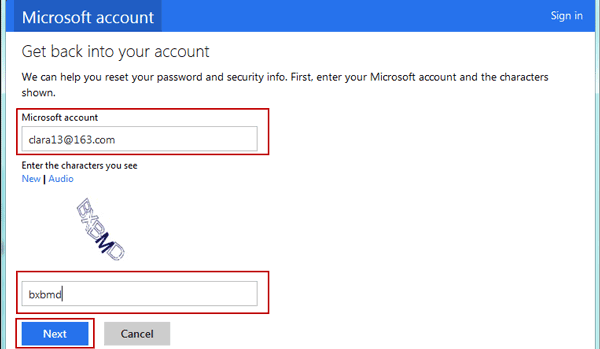 Windows 8 password recovery step 3