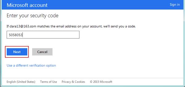 Windows 8 password recovery step 5